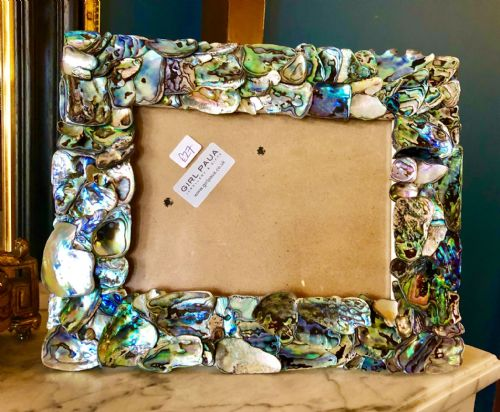 "Rectangle Paua Shell Mosaic Frame 6""x4"""